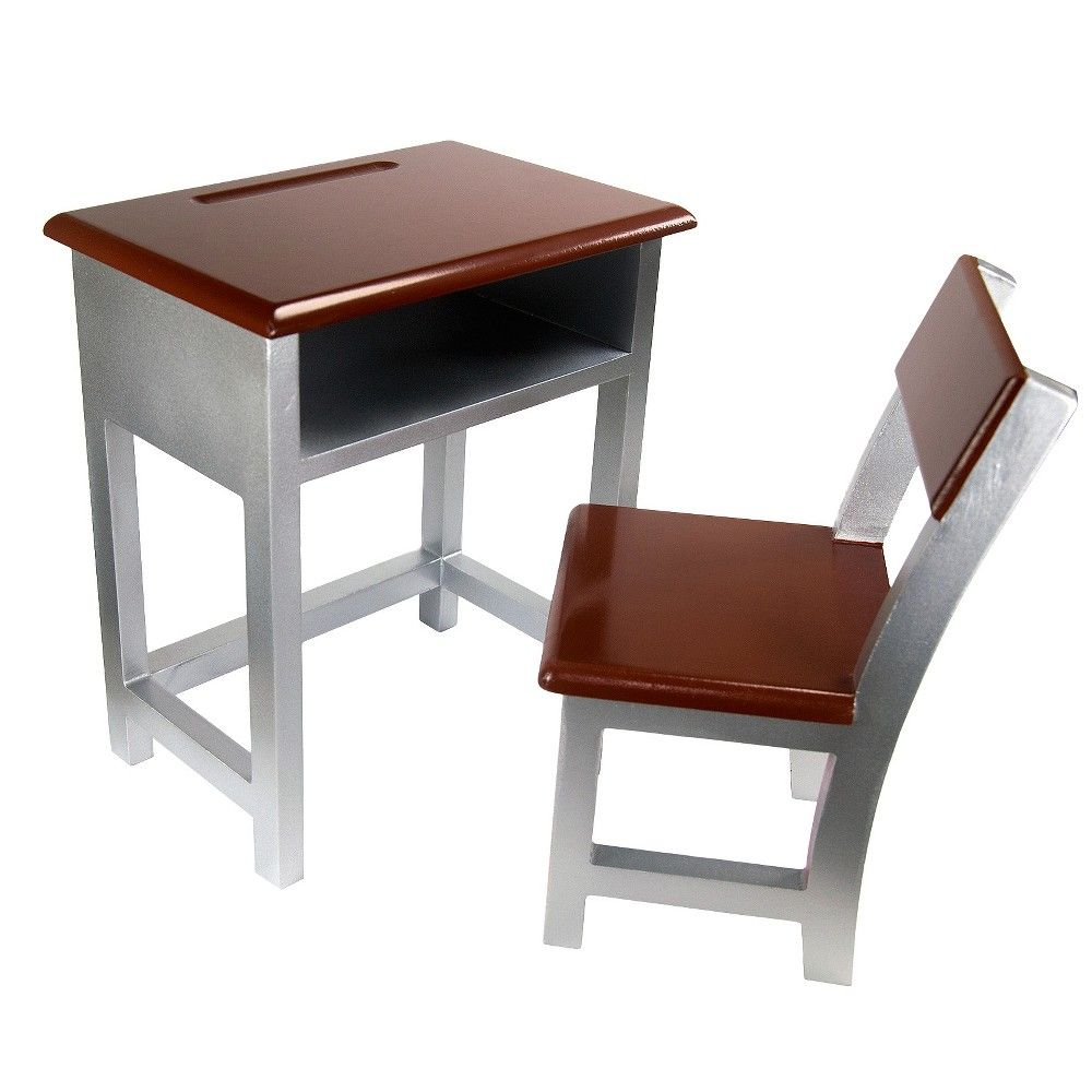 laurent doll 18 doll student desk brown silver products rh pinterest com au