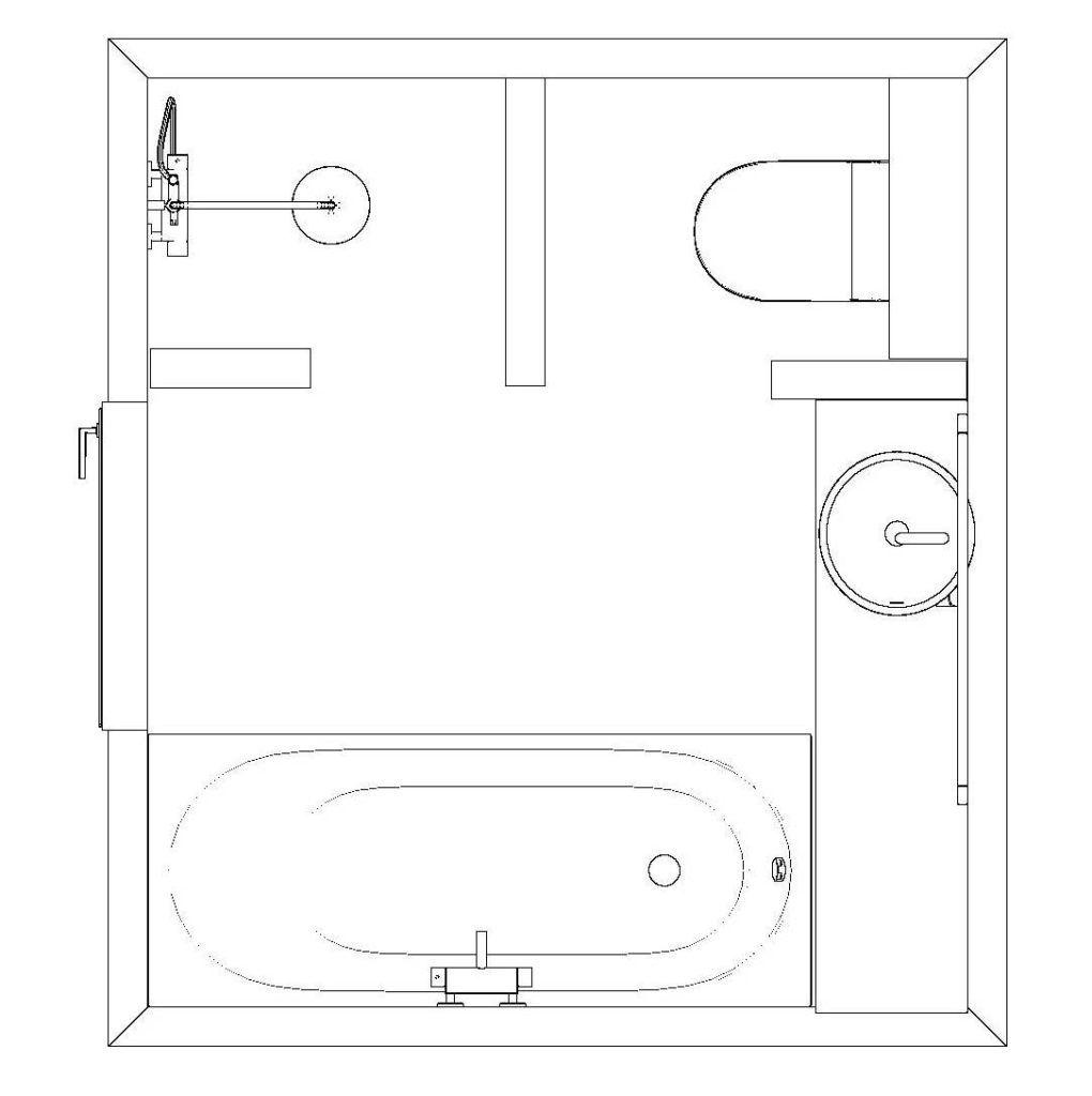 Kleine badkamer met bad én douche! - Beniers Badkamers - badkamer ...