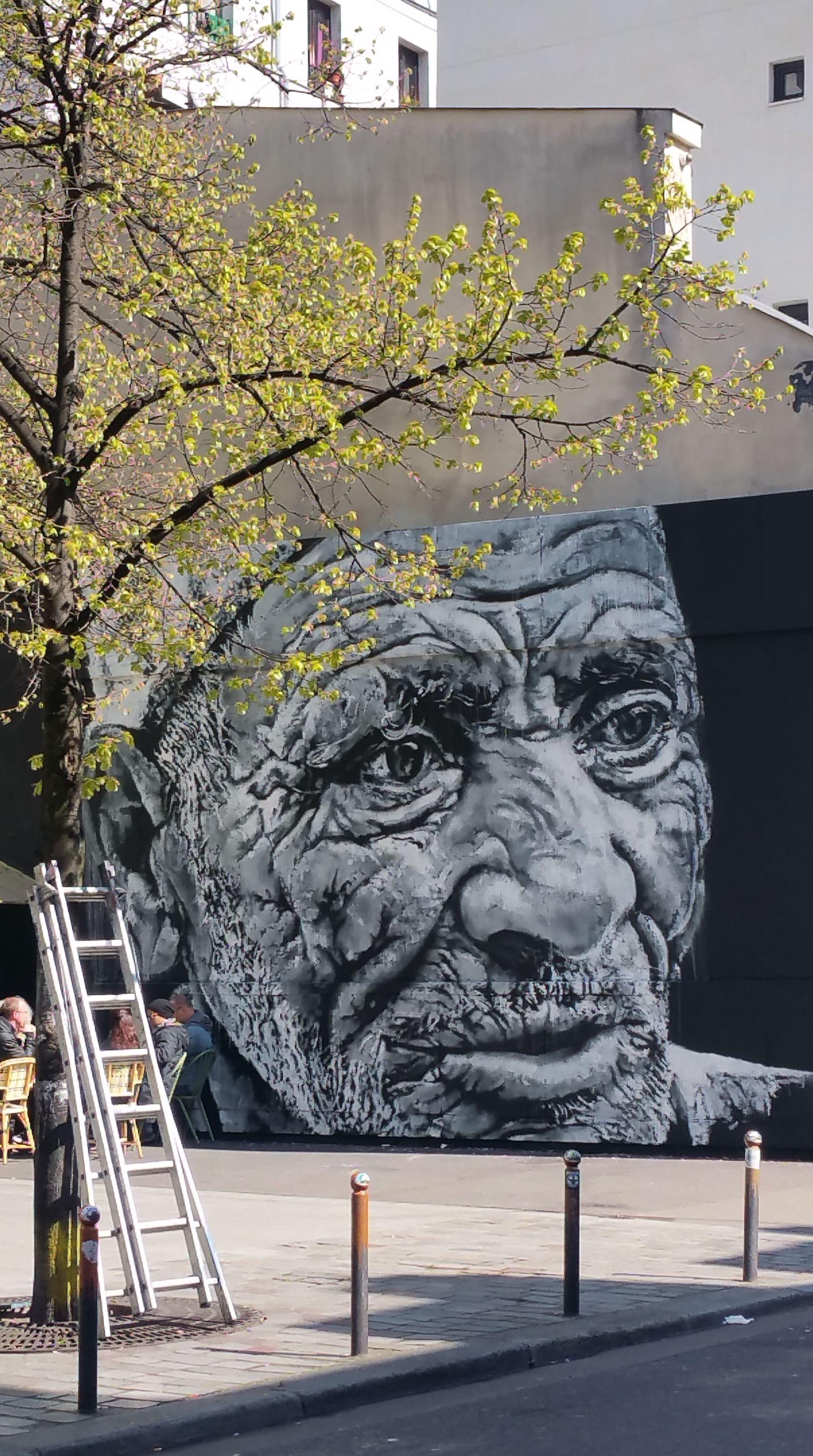Hendrik Beikirch (ECB) sur le MUR Oberkampf | Art de rue, Paysage ...