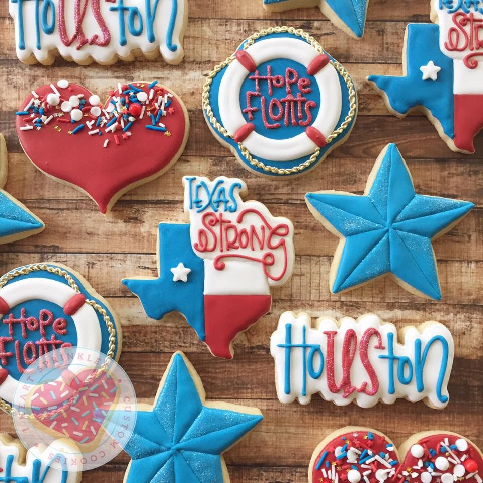 Texas strong, Texas strong cookies, harvey cookies