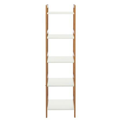 Habitat Drew Bamboo And White Lacquer 5 Shelf Bookcase At Homebase Be Inspired