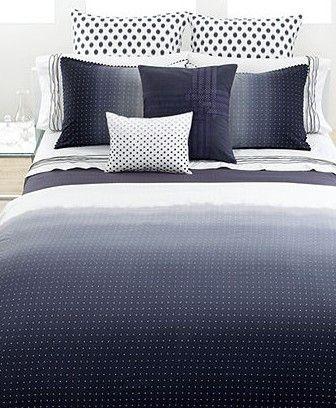Vera Wangu0027s Dip Dye Dot Duvet Cover Boasts A Swiss Dot Pattern On An Ombré  Ground Design