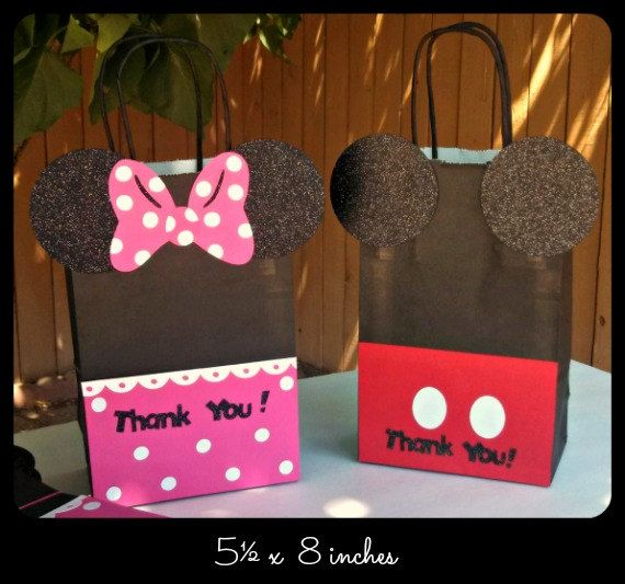b1bf5084c Mickey Mouse Minnie Mouse Goody Bags Candy Bags by LilysPaperParty ...