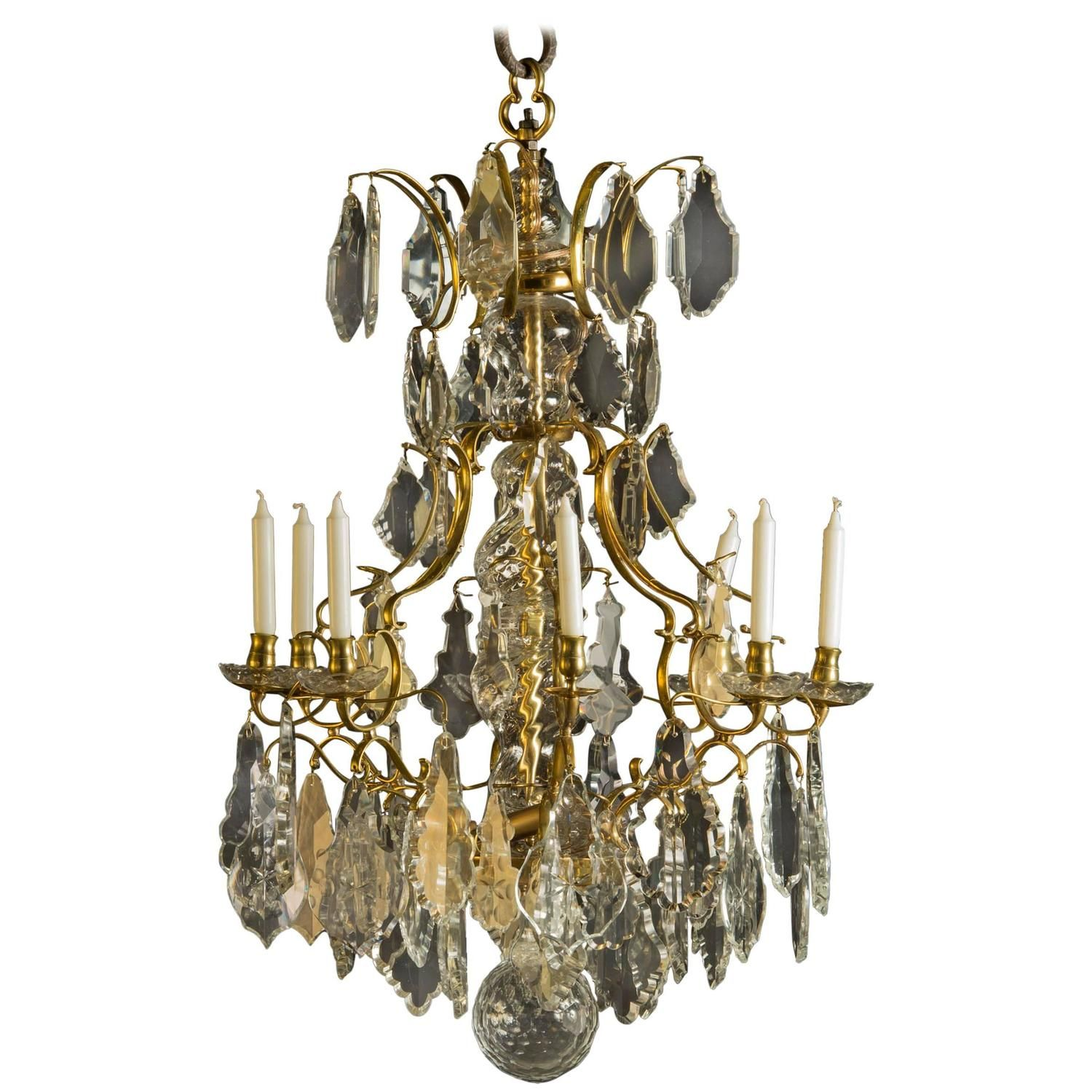 Swedish chandelier baroque style 1840 1860 from a unique swedish chandelier baroque style 1840 1860 from a unique collection of antique arubaitofo Image collections