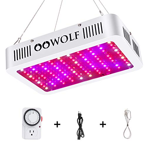 Oowolf 1000w Led Grow Light With Mechanical Outlet Timer Full Spectrum In 2020 Led Grow Lights Grow Lights Led Grow