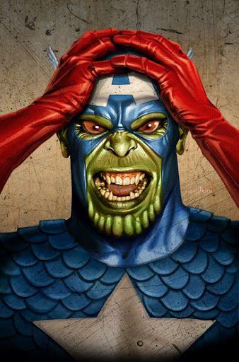 Captain America Skrull By Greg Horn Captain America Pinterest