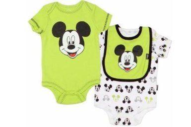 Amazon.com: Disney's Mickey Mouse Baby Boy's Cotton Green ...