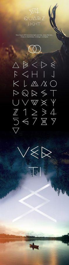 Quarz 974 Light (free font)