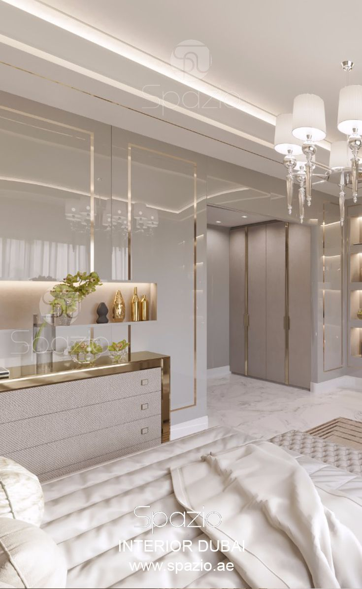 Decor Ideas For Luxury Interior Design Get More Bedroom Interiors And Inspiration On The Web Master Bedroom Interior Luxurious Bedrooms Luxury Interior Design Gold plated luxury bedroom