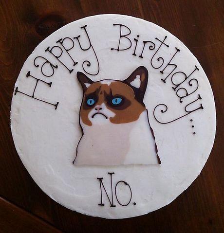 Grumpy Cat Birthday Cake  Hahaha @Kristina Kilmer Kilmer Borisova @Tatiana Bowe…