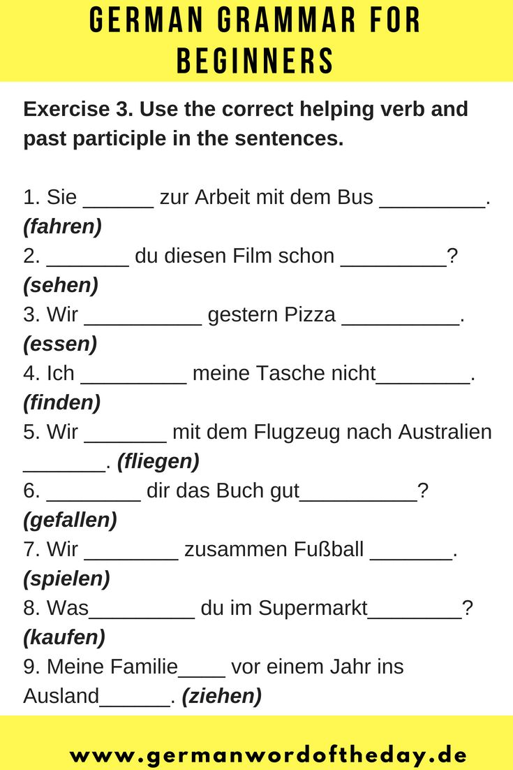 German for beginners | German language printable | German downloads ...
