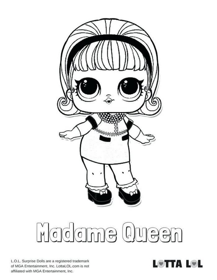 I Love You Baby Coloring Pages New Free Printable Lol Surprise Dolls Coloring Pages Madame Queen Lol Sur Love Coloring Pages Coloring Pages Baby Coloring Pages