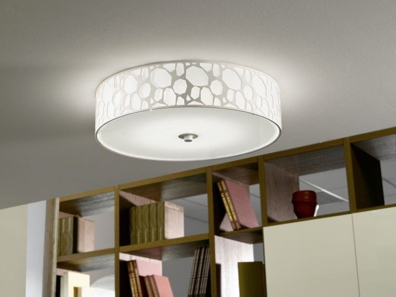 Design LED living room lamp white ceiling glass flush light  54112