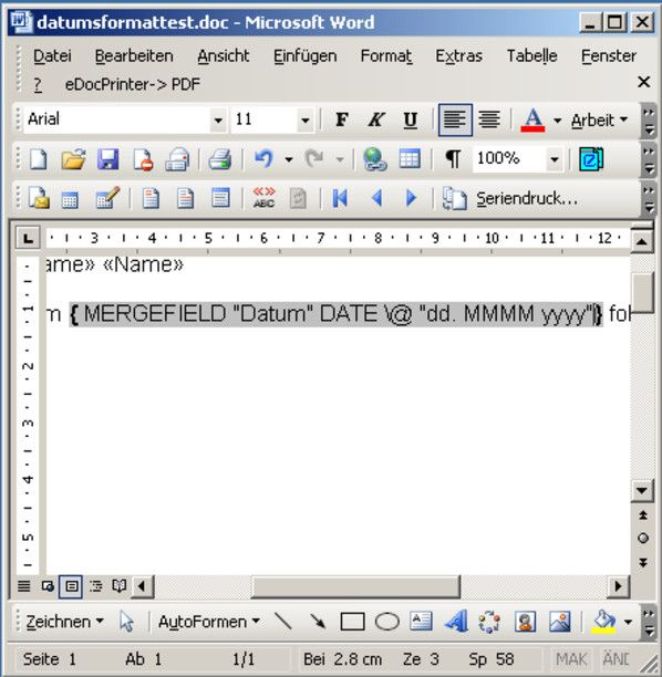 Word Datumsformat Im Serienbrief Anpassen Excel Tipps Lernen Tipps Und Tricks