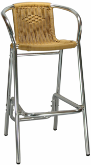 our commercial outdoor aluminum bar stools will compliment your