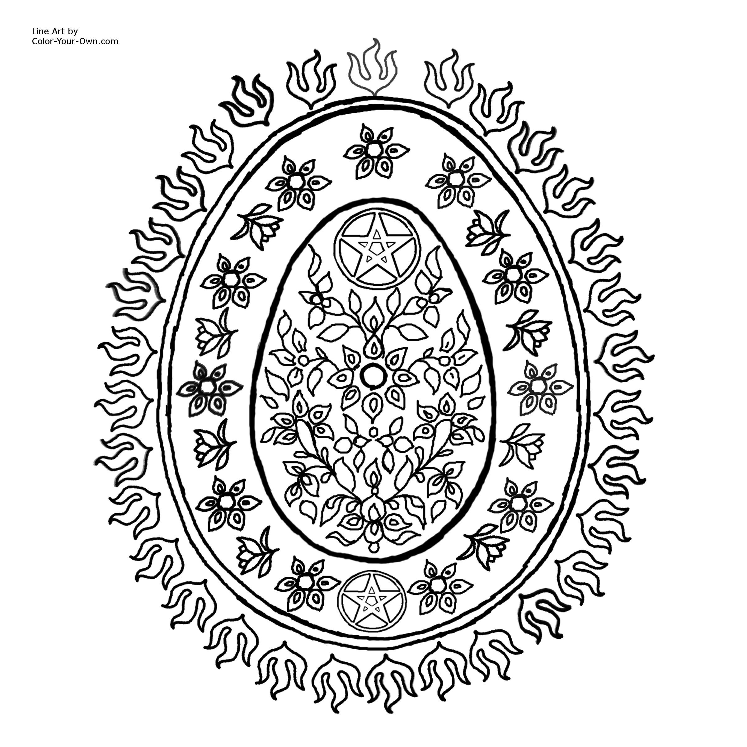 Coloring Pagan Pages Printable 2020 Easter Coloring Pages