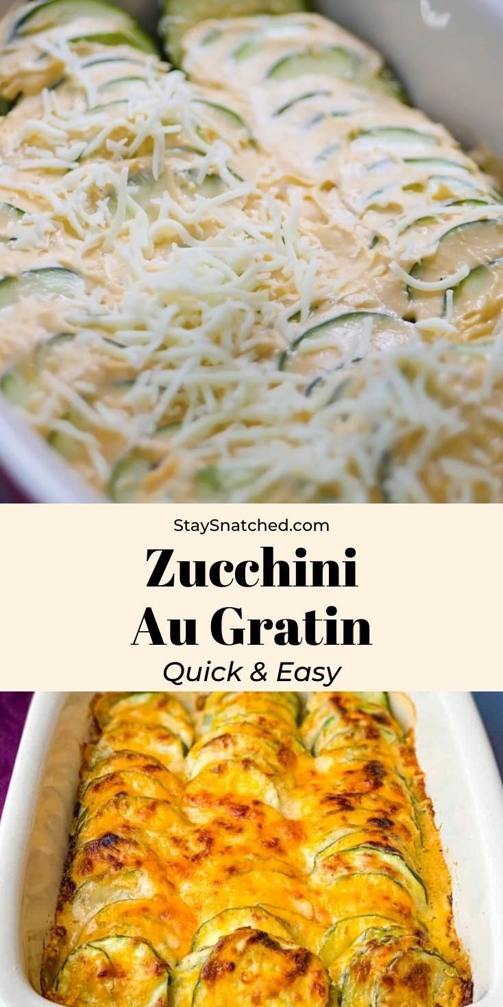 Photo of Easy Zucchini Au Gratin