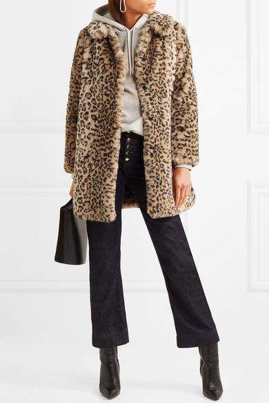 fb40700af6ab Alice + Olivia Alice Olivia - Kinsley Oversized Leopard-print Faux Fur Coat  - Leopard print