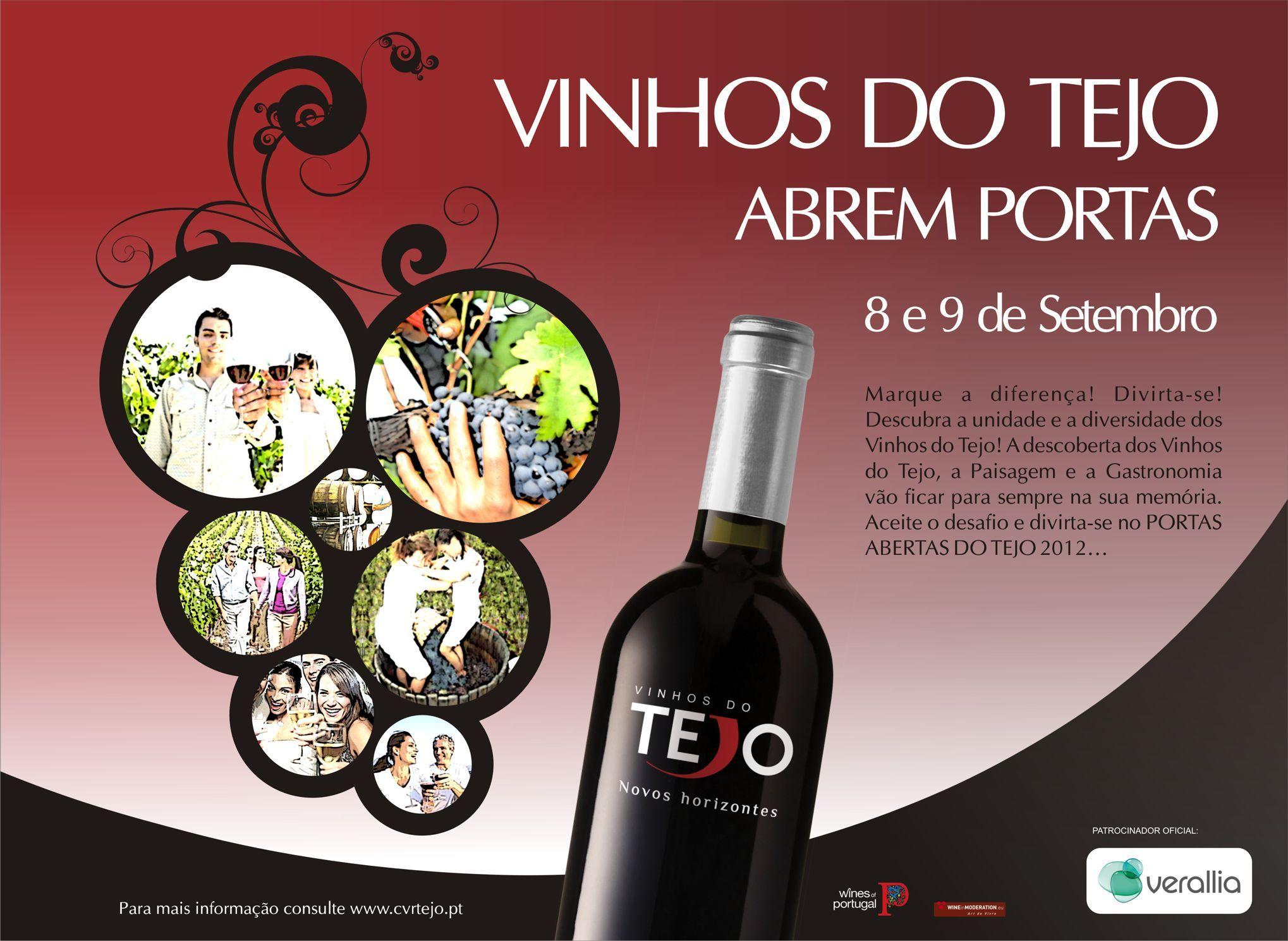 Portas Abertas Do Tejo 2012 8 E 9 De Setembro Via Vinhos Do Tejo No Fim De Semana De 8 E 9 De Setembro 20 Produ Provas De Vinhos Vinhos Vinhos De Portugal