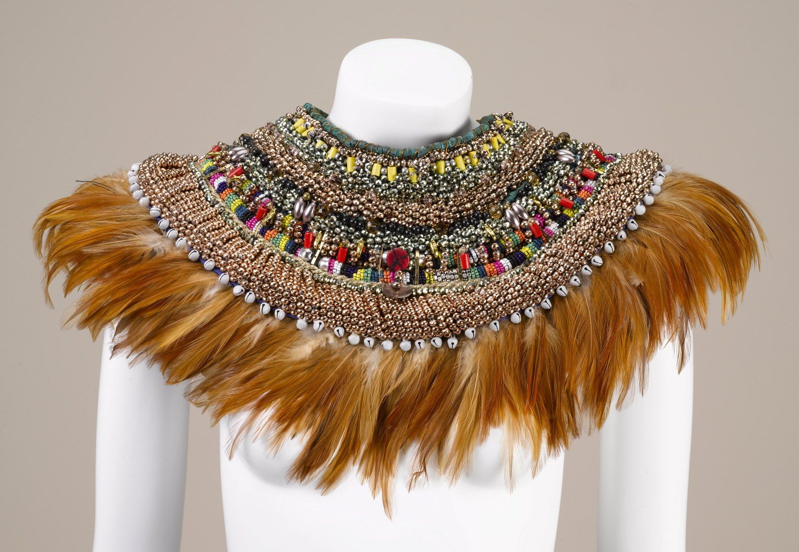 Feather collar by Anita Quansah London