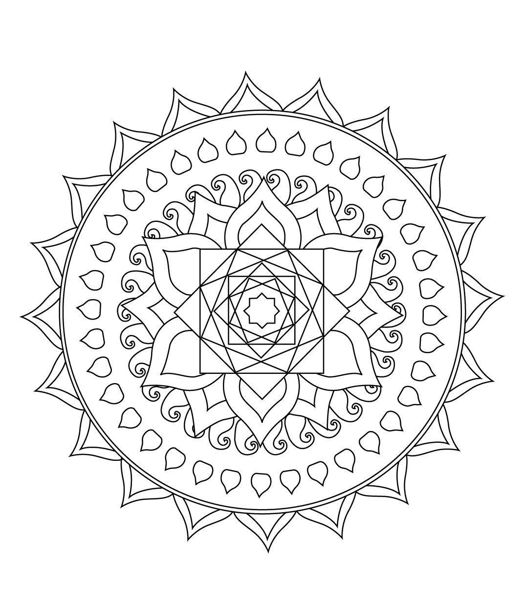 STCI, coloriage pour adultes et enfants mandalas   Coloriage mandala, Mandala, Coloriage