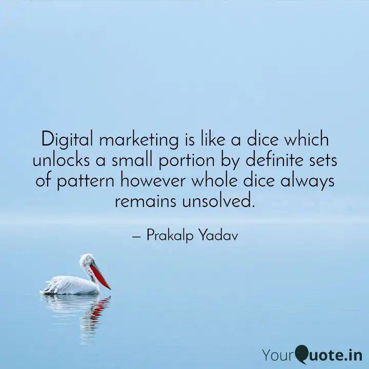 Digital Marketing Meaning #marketing #brainyquotes #followforfollowback #digiprakalp