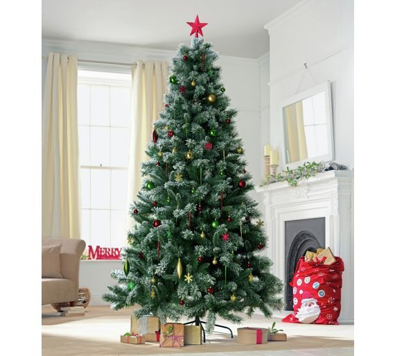 free shipping cd6d2 c625e Buy Pre-lit Snow Tipped Christmas Tree - 7ft at Argos.co.uk ...