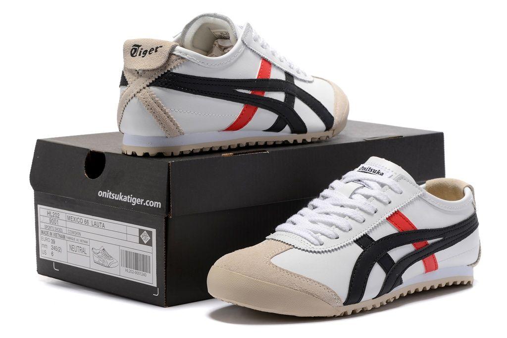 onitsuka tiger mexico 66 white black red zapatillas zara