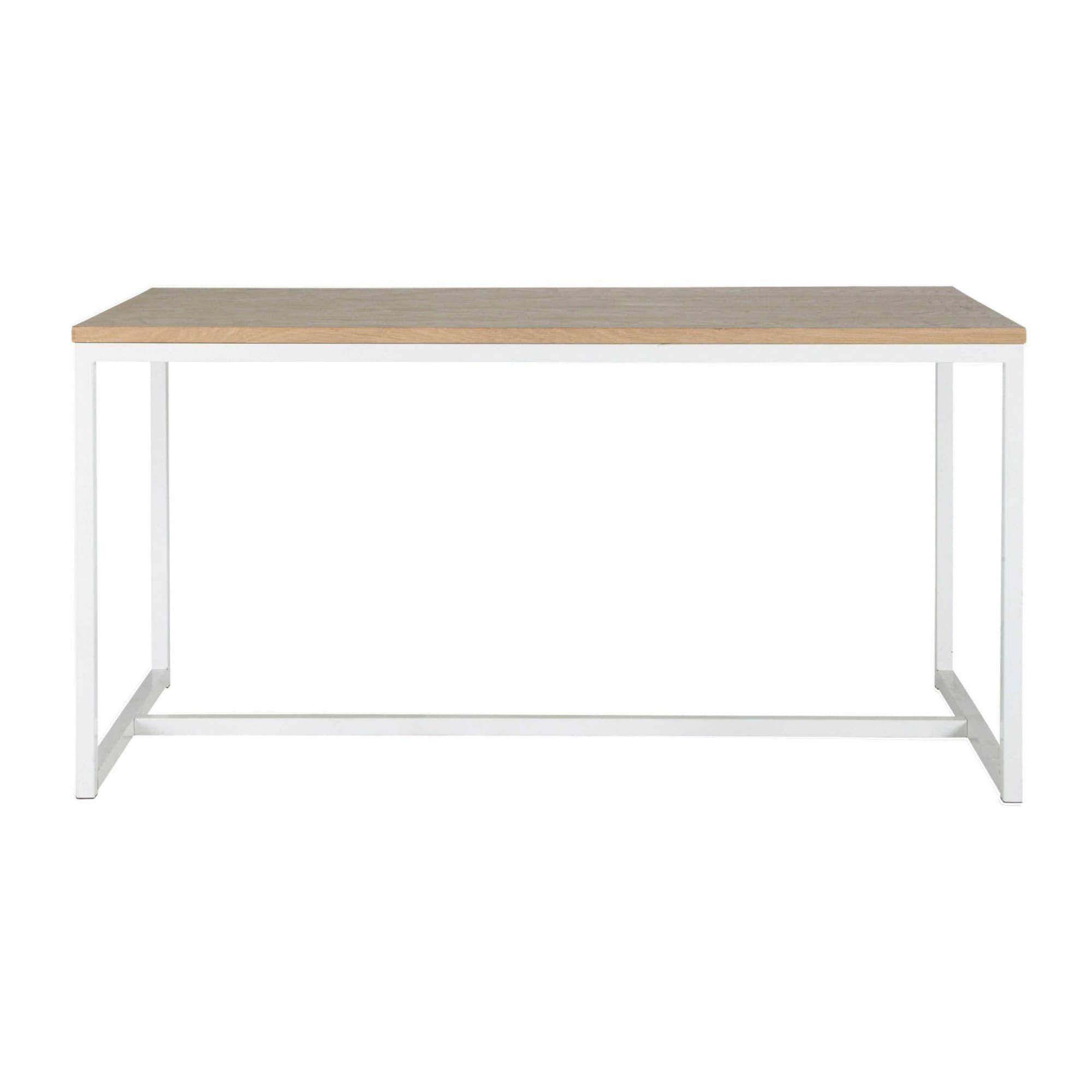 Esstisch aus Holz und Metall, B 150 cm, weiß Esstisch