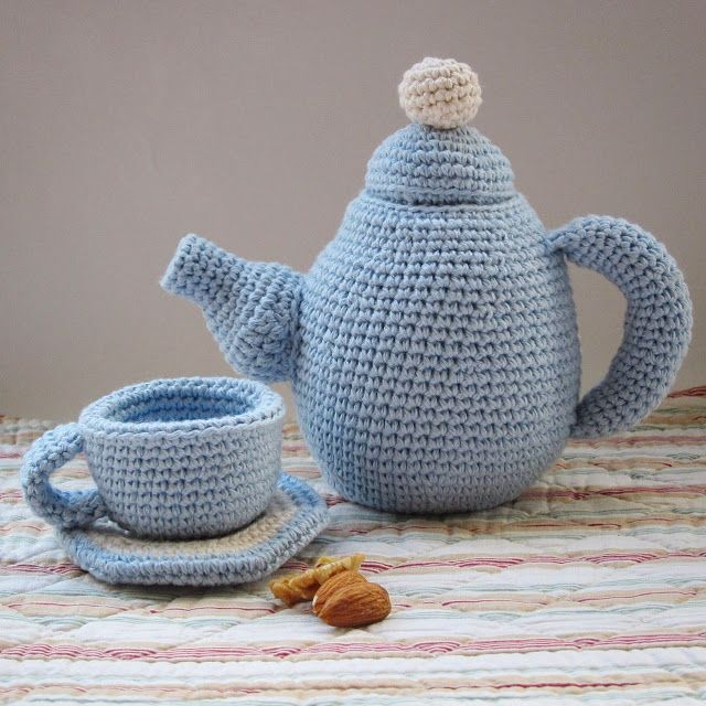 Amour Fou Free Tea Set Pattern English Crochet Pinterest
