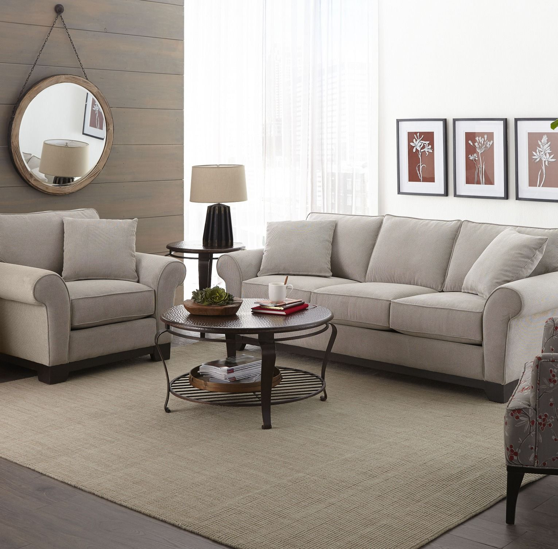 Macys Sofa Pillows Apartment Size Medland 89 Fabric Roll Arm With 2 Created