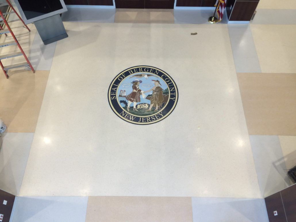 Bergen County Nj Seal Epoxy Terrazzo Design Floor