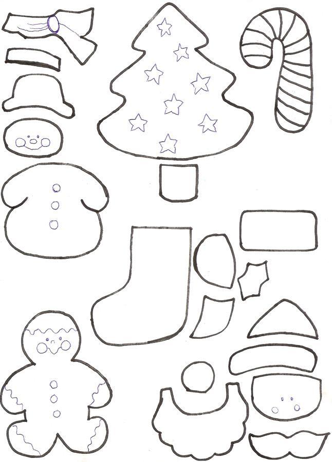 Moldes De Natal Para Eva E Feltro Com Imagens Moldes De Natal