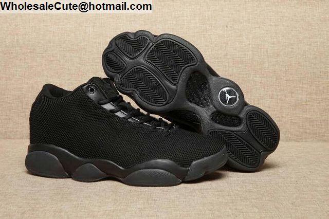 Mens   Womens Air Jordan Horizon Low Triple Black -13553 - Nike ... e6716ecf3c