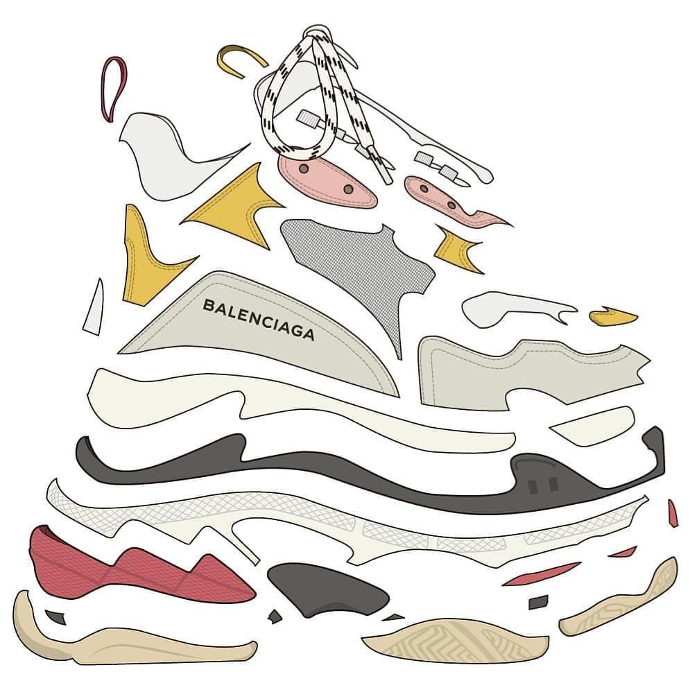 88539d9128b Balenciaga / Triple S | My Style | Custom sneakers, Fashion pictures ...