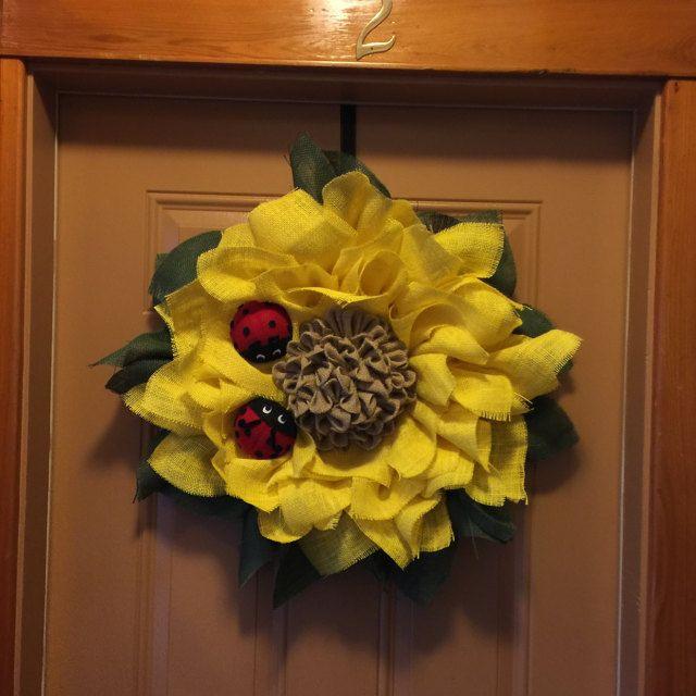 Photo of Sunflower wreath / ladybug wreath