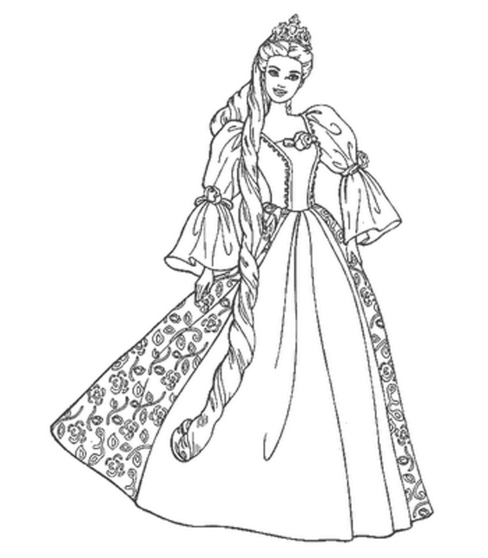 Printable Barbie coloring pages | It\'s a Barbie Birthday Party ...