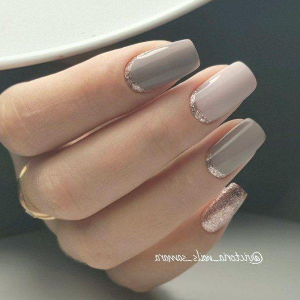 pic Elegant Neutral Nail Designs nail shapes for acrylic nails