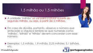 Português para todos: 1,5 milhão ou 1,5 milhões