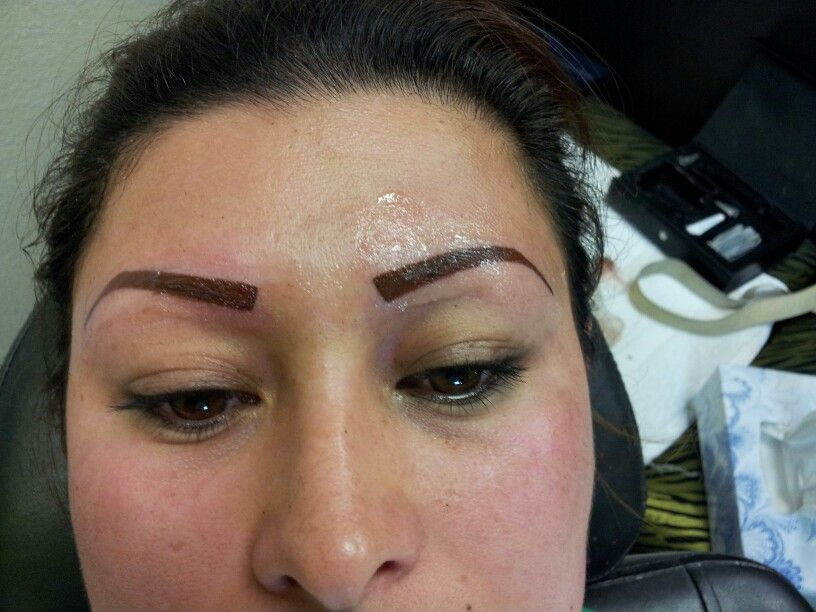 Eyebrows Tatoo Azul Hair Dresser At Lisas Day Spa 975 Broadway
