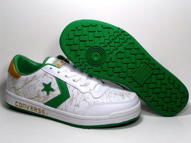Converse Basketball Shoes Retro Low Top White Green Converse Slippers Converse Brown Leather Shoes