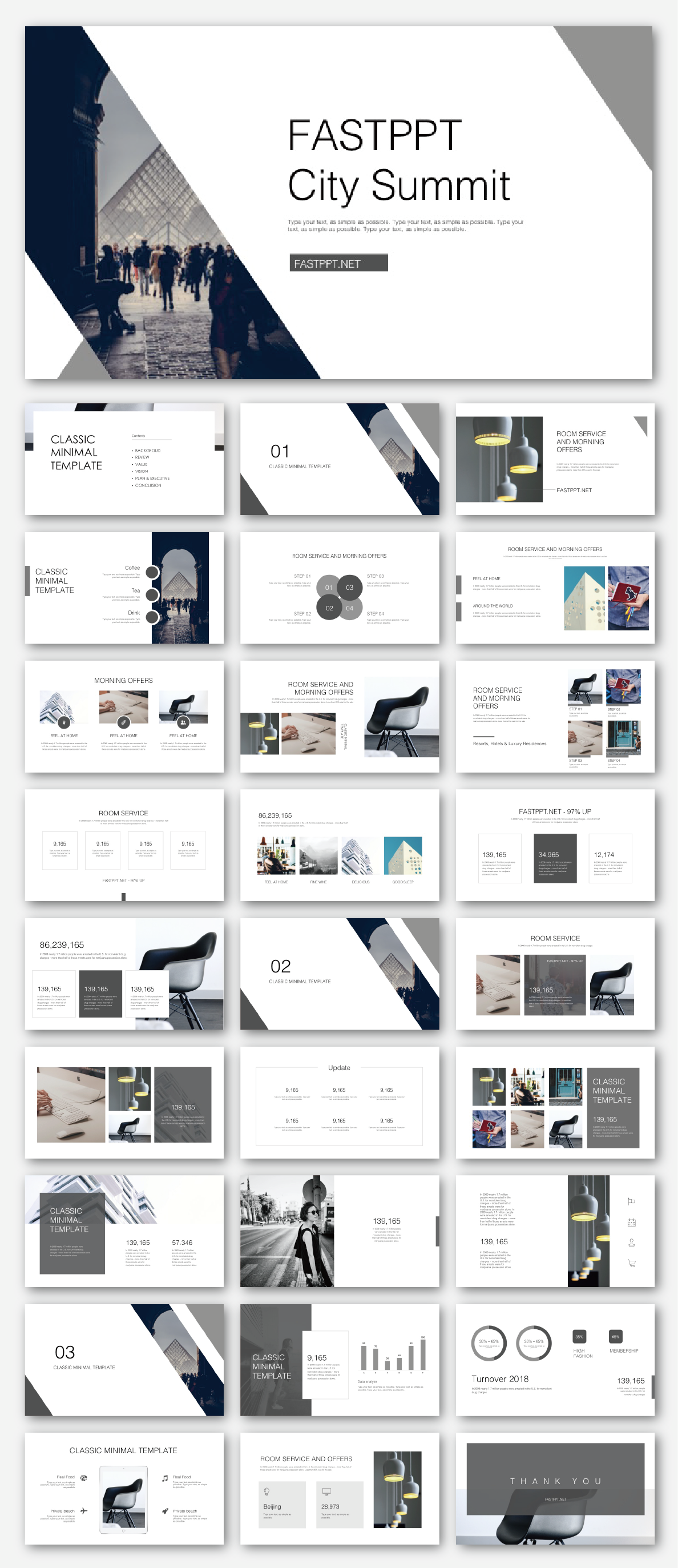 Black White Business Presentation Template – Original and high quality PowerPoint Templates download