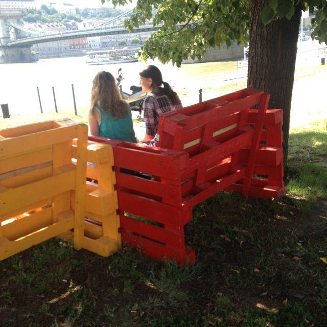 Palette Chairs, Budapest. #furniture #design #improv