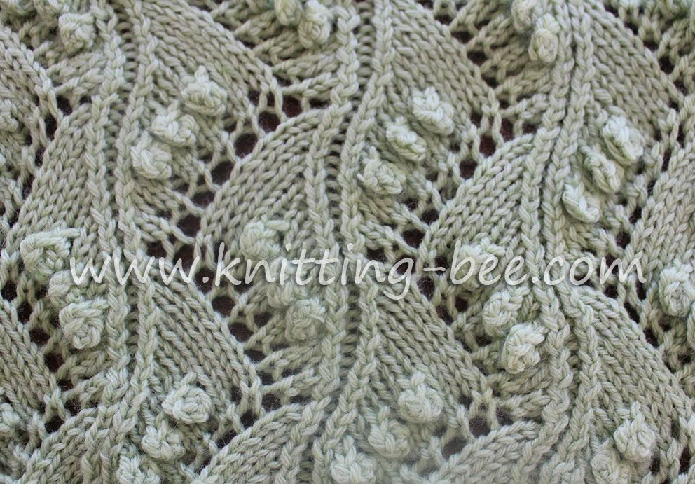 Lace Vertical Zig Zag With Bobbles Free Knitting Stitch By Http