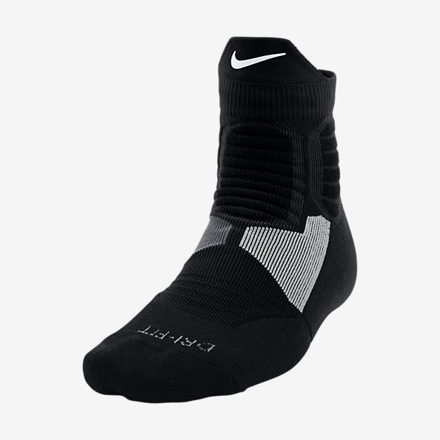 Nike Hyper Elite High Quarter White/Black Basketball Socks