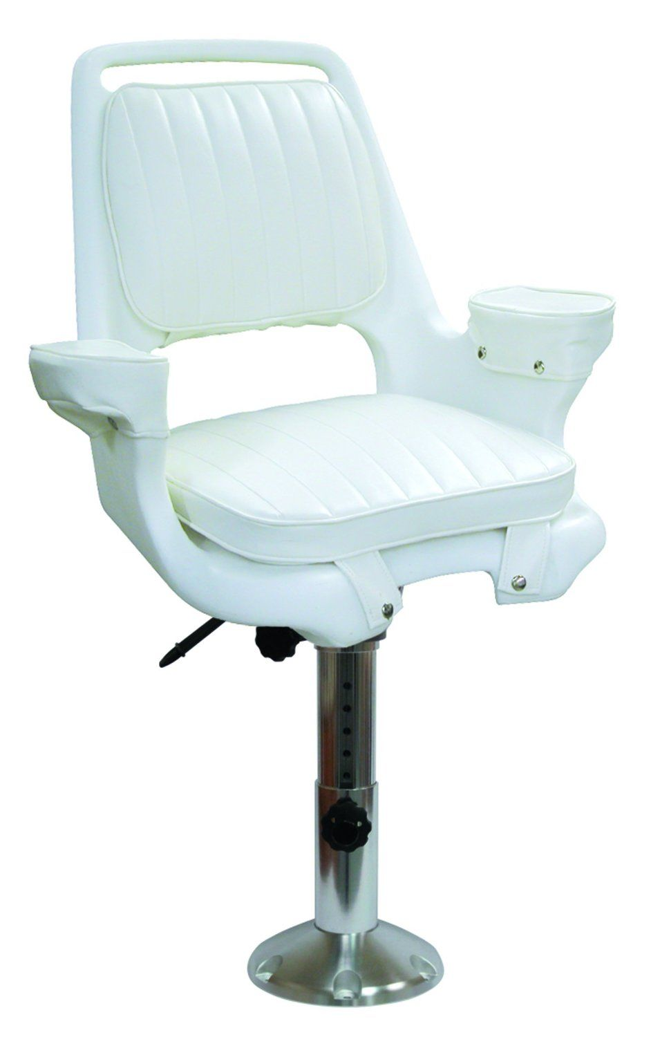 """Wise #Captains #Chair with Cushions, 12-18"""" Adjustable Height #Pedestal and #Seat #Slide @motorboatseats http://www.amazon.com/gp/product/B003E1ZCH8/ref=as_li_tl?ie=UTF8&camp=1789&creative=390957&creativeASIN=B003E1ZCH8&linkCode=as2&tag=pinboatseats-20&linkId=EVSGILIQ4EFN76IJ"""