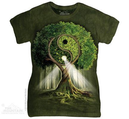 Dámské tričko Strom Jin Jang  1ec6e5906e7