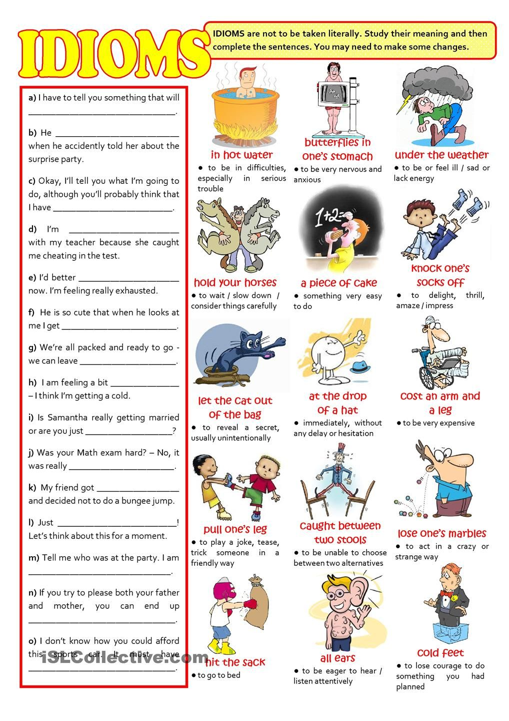 hight resolution of IDIOMS   Teaching idioms