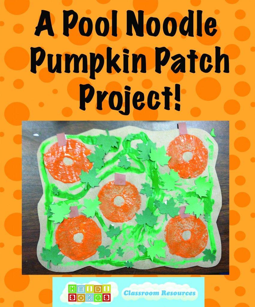A Pool Noodle Pumpkin Patch Art Project! | Pool noodles, Color songs ...