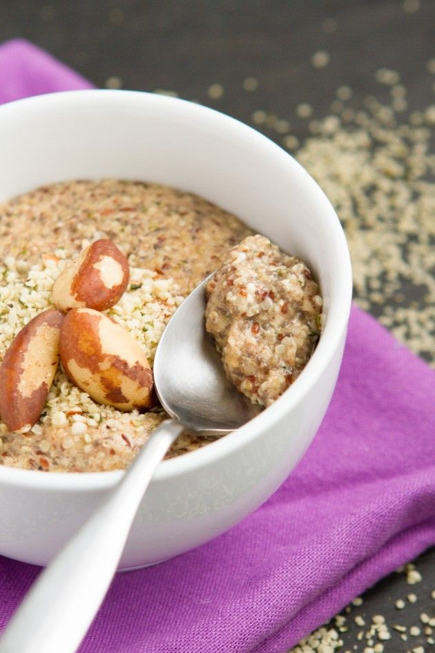 Grain Free Hemp Heart Porridge Recipe Hemp Recipe Hemp Seed Recipes Recipes